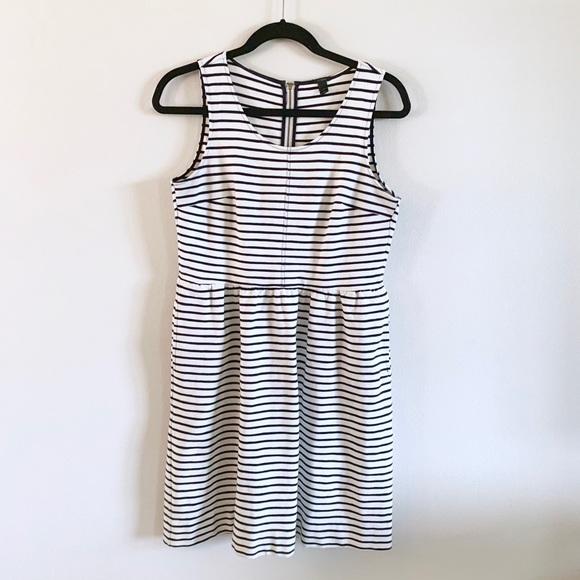 J. Crew Dresses & Skirts - J Crew | Navy Striped Midi Dress Sz 2